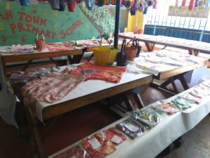 Outgoing Grade ersers of Allman Town Primary showcase what they have learnt creatively.
